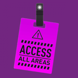 Access all areas graphic
